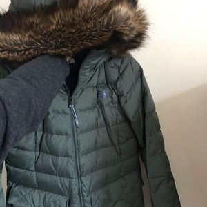 North Face Women's fur lined hooded jacket